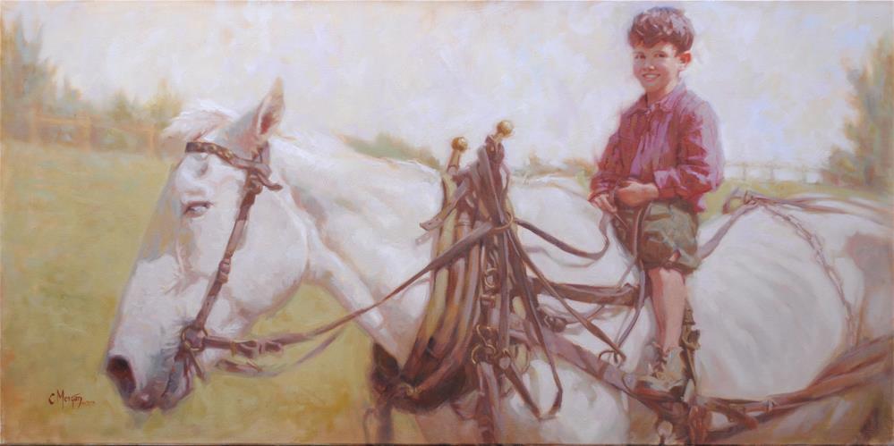 """""""Long Ago Memories"""" original fine art by Cecile W. Morgan"""