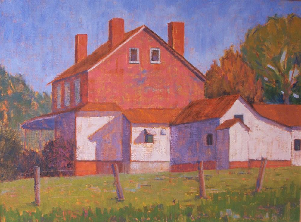 """""""Brownsburg House and Outbuildings"""" original fine art by Katharine March"""