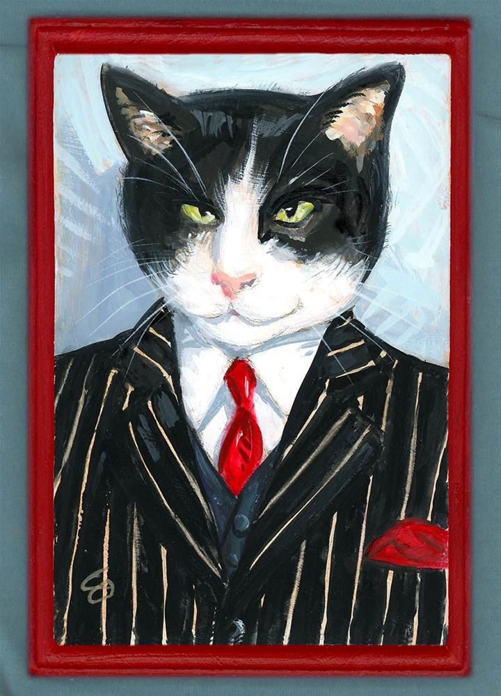 """Vinny Whiskers"" original fine art by Chris Ousley"