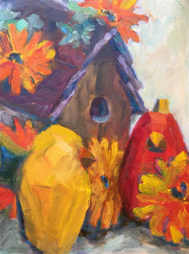 """'House Proud' 9 x 12, oil on canvas panel. Available on Daily Paintworks"" original fine art by Ceci Lam"