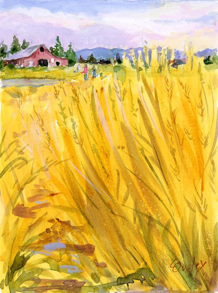 """Field of Gold"" original fine art by Chris Ousley"