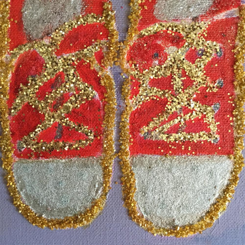 """""""Emergency ball sneakers"""" original fine art by pamela kish"""