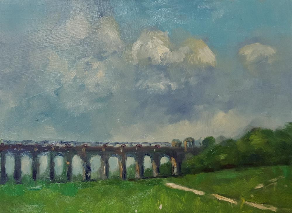 """Ouse Valley Viaduct"" original fine art by Andre Pallat"
