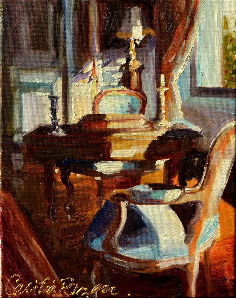 """BLUE STUDY"" original fine art by Cecilia Rosslee"
