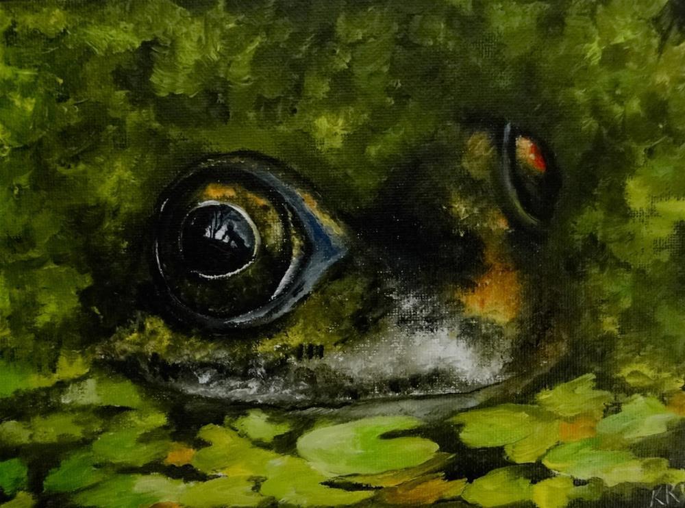 """""""Watching you, watching me"""" original fine art by Karen Robinson"""