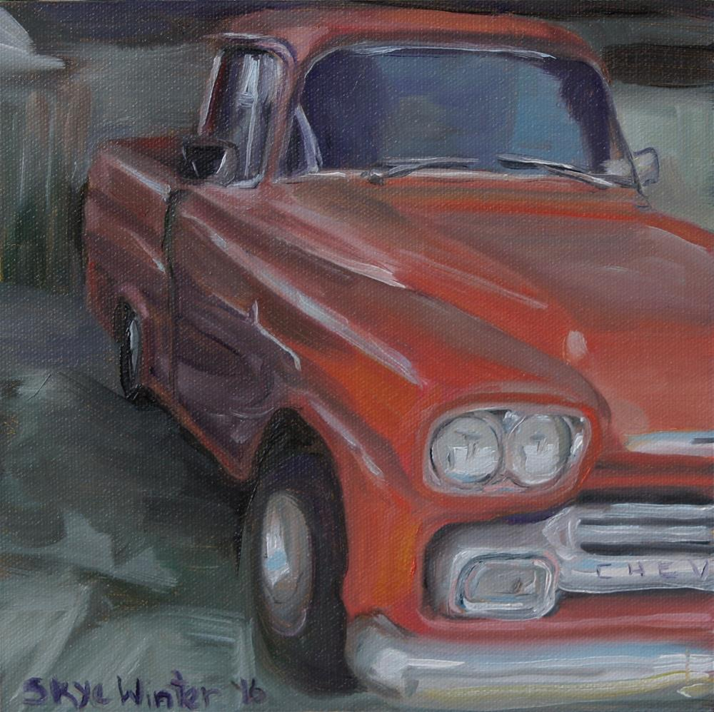 """Old Red"" original fine art by Skye Coddington"