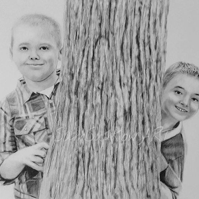 """Tree Huggers"" original fine art by Sam Supkow"