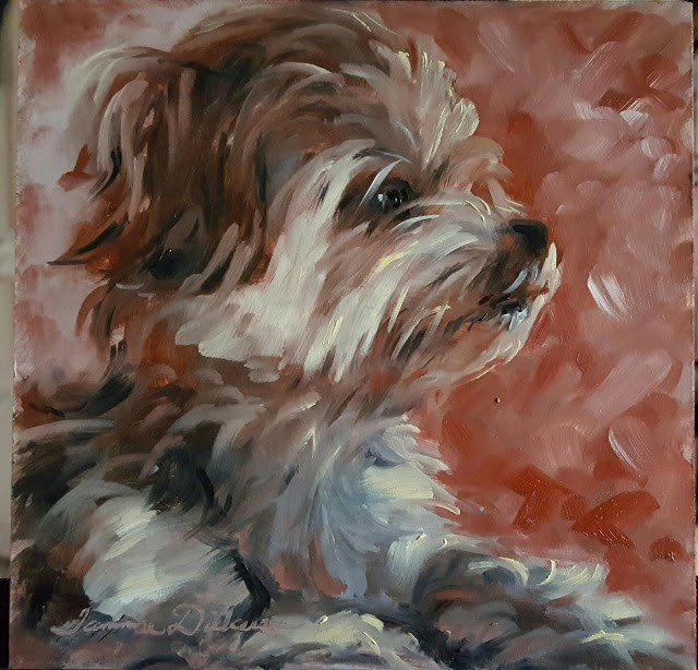 """Regal Chewy"" original fine art by Tammie Dickerson"