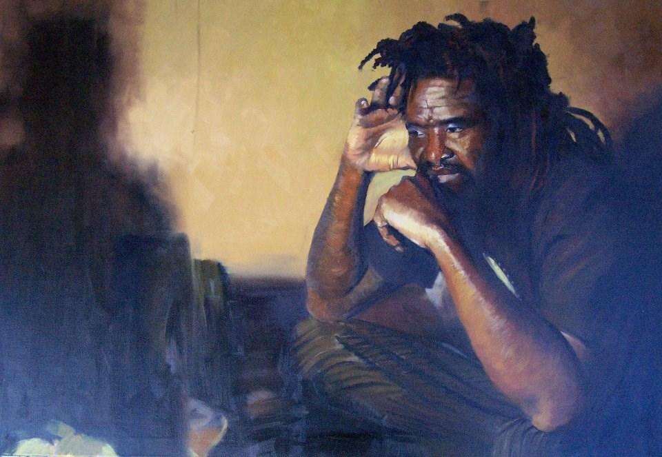 """""""Creep"""" original fine art by Adebanji Alade"""