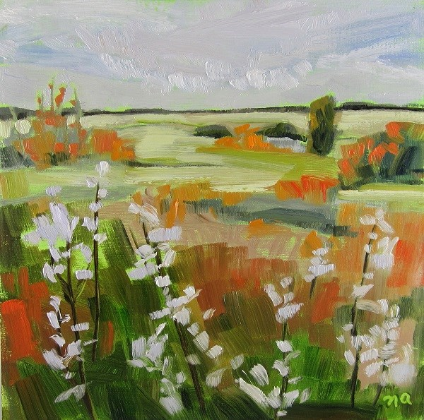 """Fall Show- Wolf Willow"" original fine art by Nicki Ault"