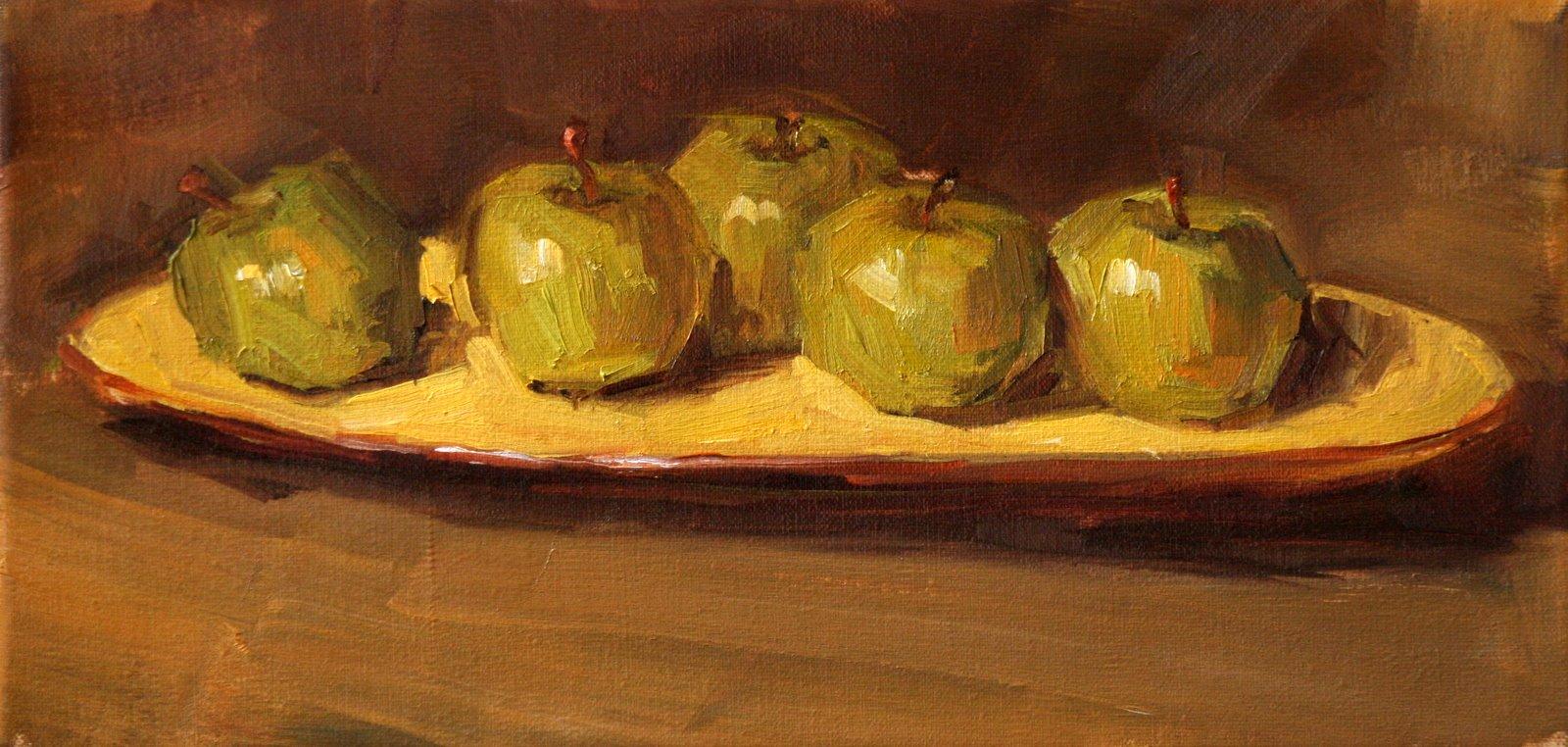 """granny platter"" original fine art by Carol Carmichael"
