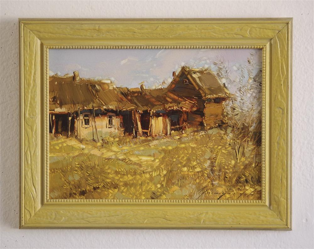 """Landscape Farm Original oil Painting on Canvas Framed Ready to Hang"" original fine art by V Y"