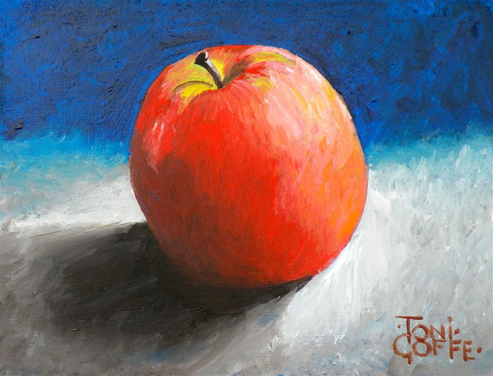 """Apple 2"" original fine art by Toni Goffe"