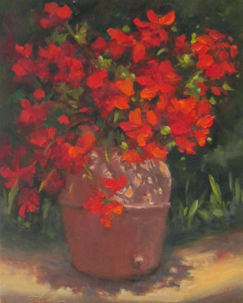 """Geranium Study"" original fine art by Pat Fiorello"