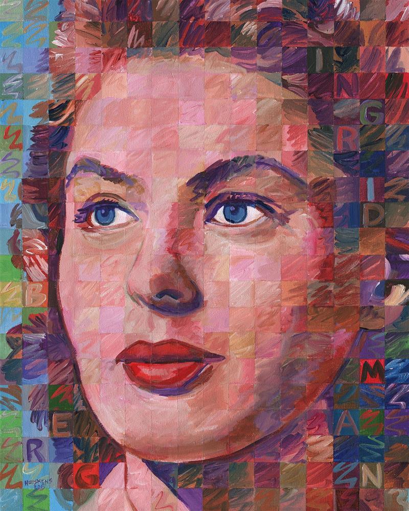 """""""Ingrid Bergman"""" original fine art by Randal Huiskens"""