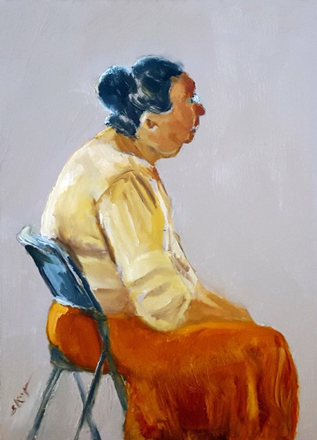 """Woman at Rest"" original fine art by Shelley Koopmann"