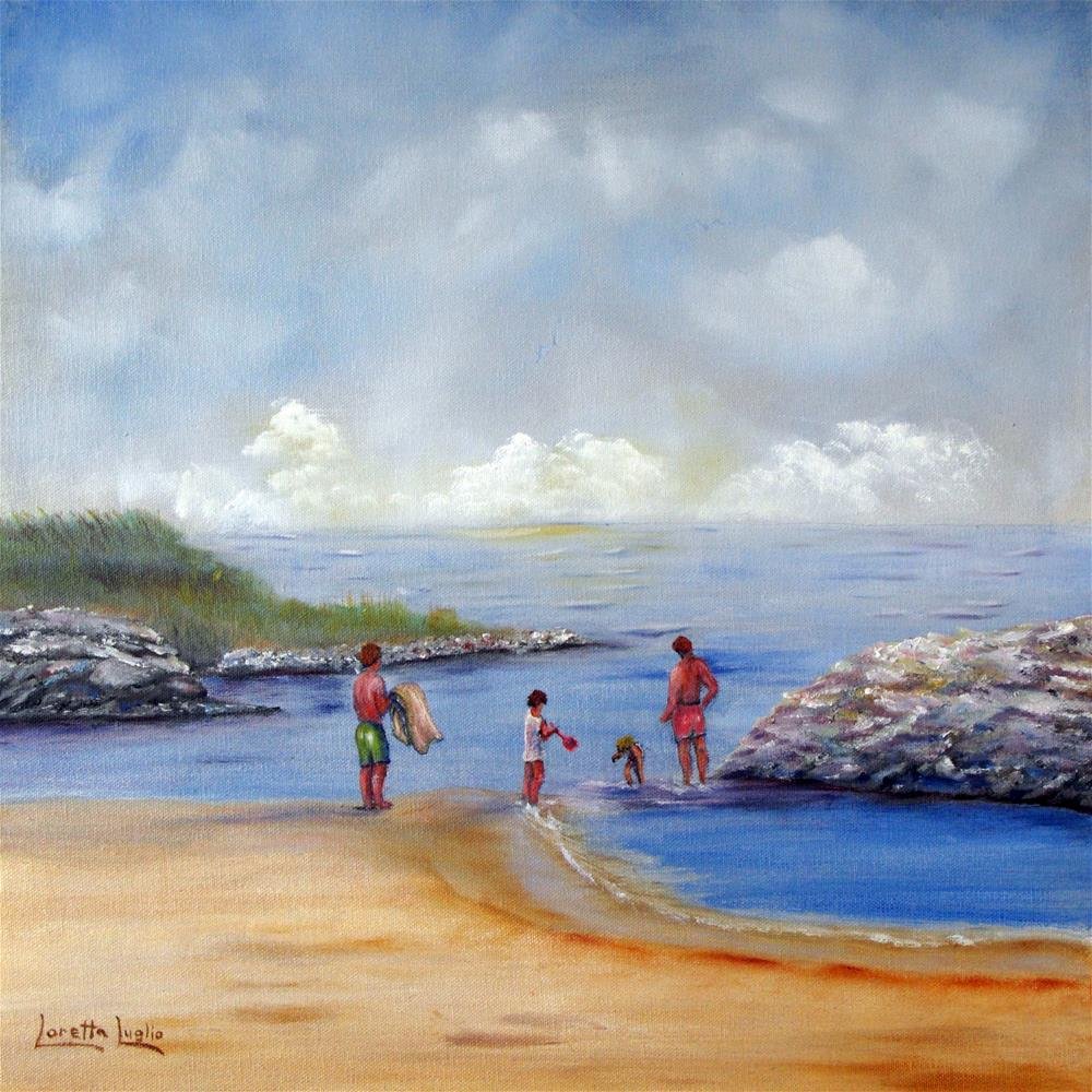 """Rock Hall Beach"" original fine art by Loretta Luglio"