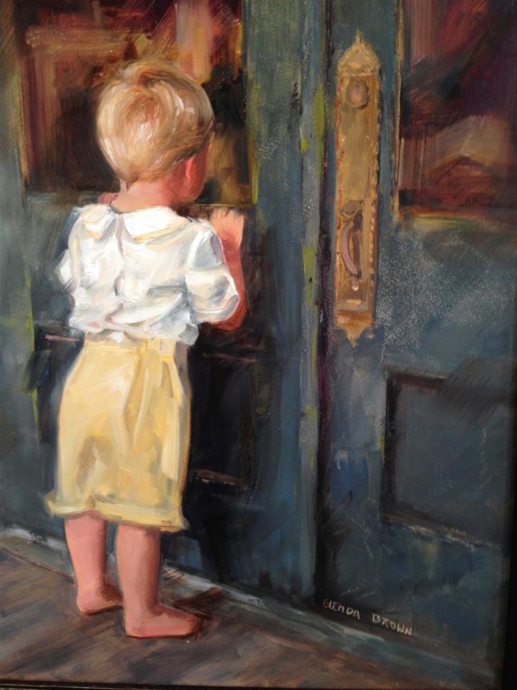 """peeping"" original fine art by Glenda Shaw Brown"
