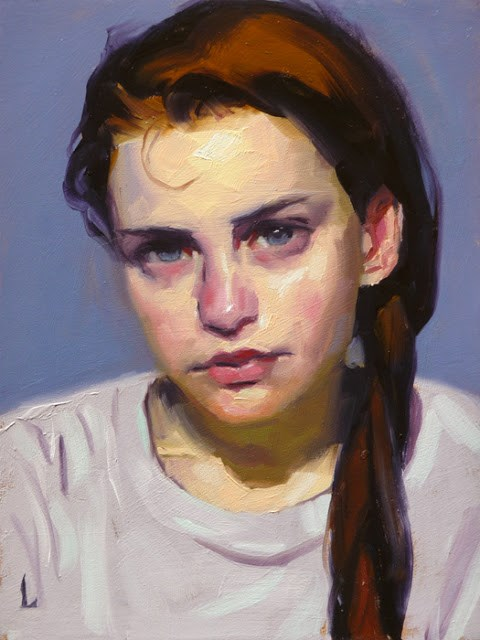 """Loose Braid"" original fine art by John Larriva"