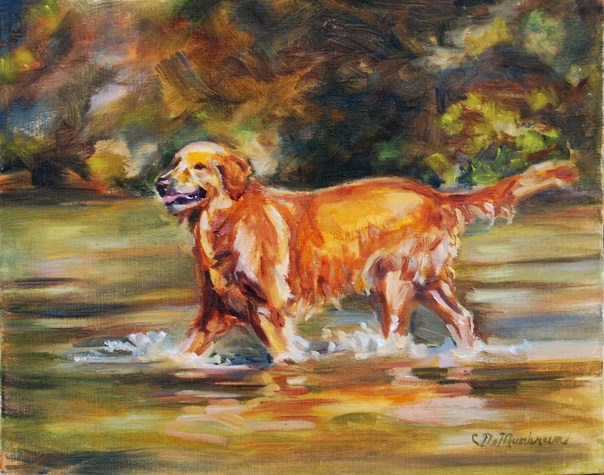 """Golden Boy"" original fine art by Carol DeMumbrum"