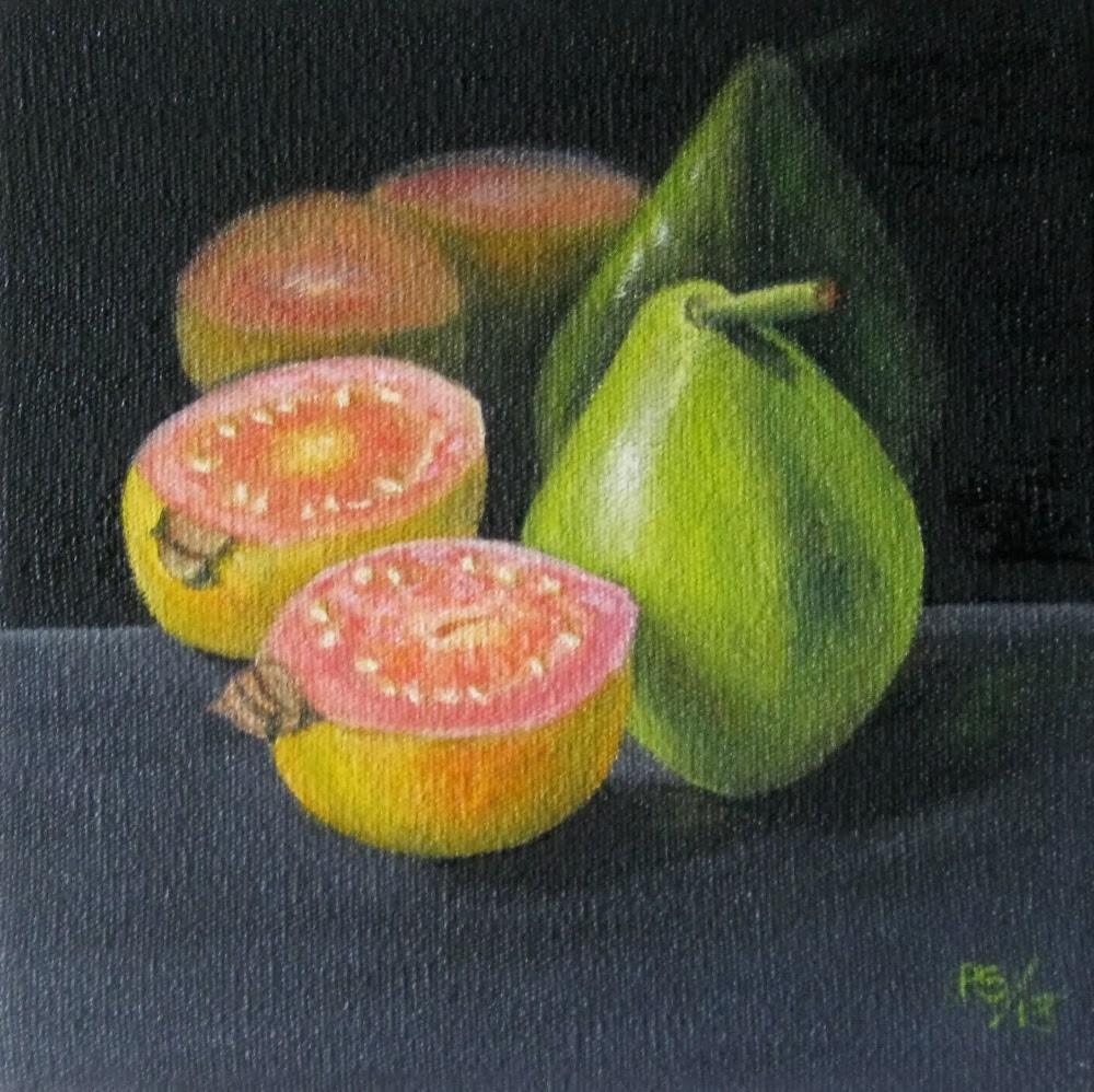 """""""Guavas"""" original fine art by Pera Schillings"""