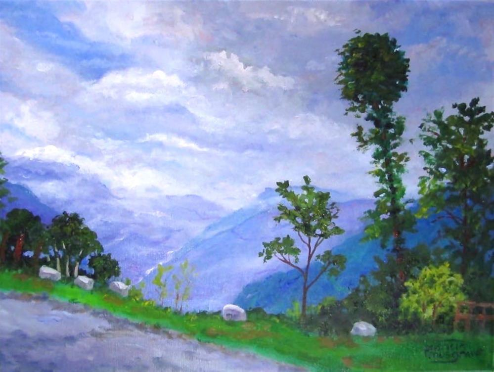 """Himalayan Roadway"" original fine art by Patricia Musgrave"