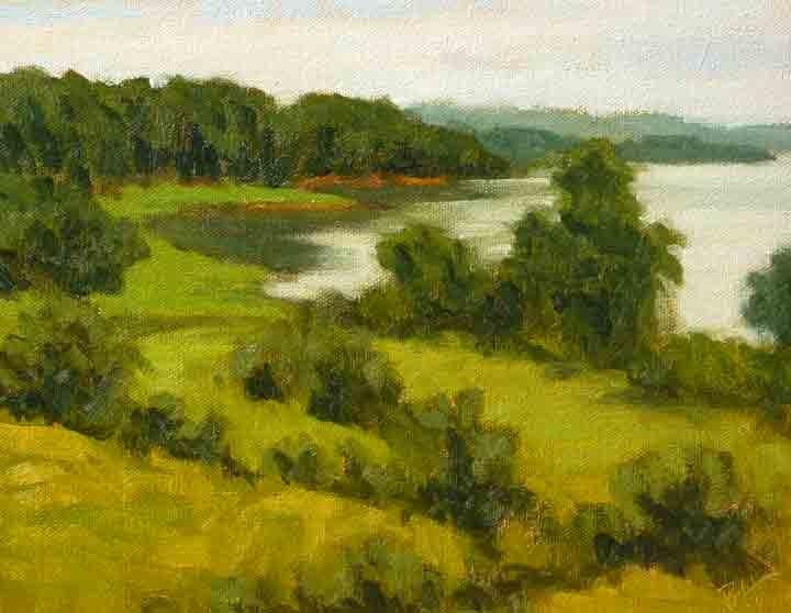 """Broad Cove Morning"" original fine art by Bobbi Heath"