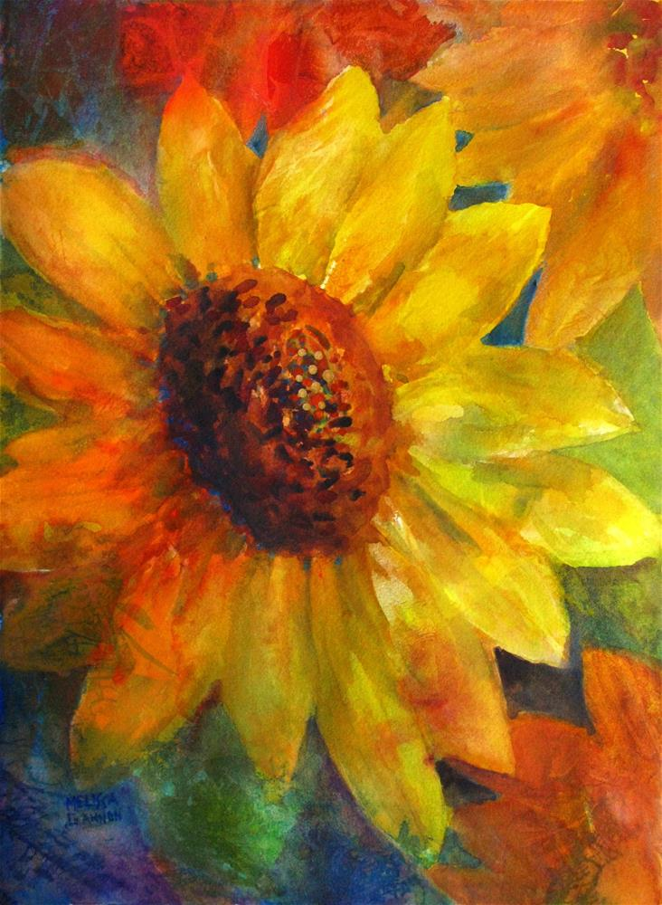 """Flower of the Sun"" original fine art by Melissa Gannon"