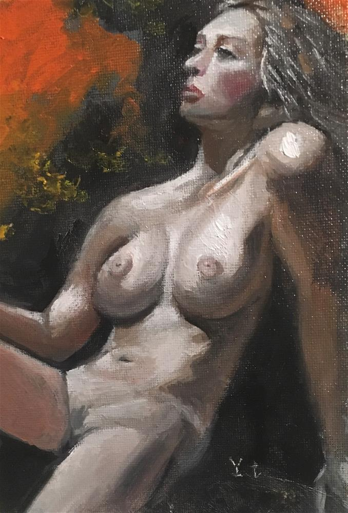 """Nude 1"" original fine art by tian yin"