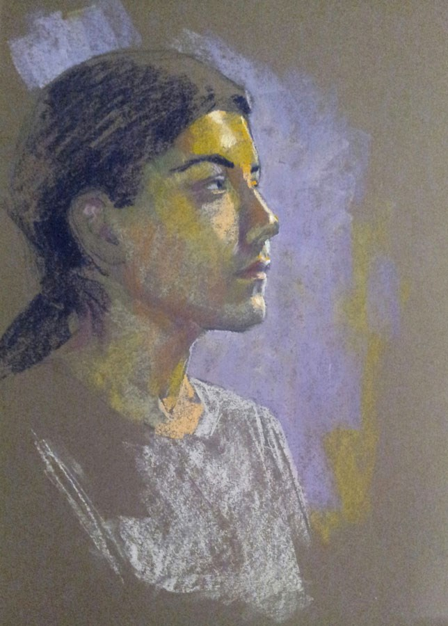"""Untitled portrait"" original fine art by Rita Kirkman"
