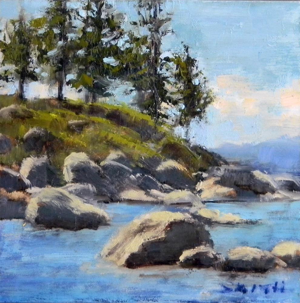 """Sand Harbor, Lake Tahoe"" original fine art by Barbie Smith"