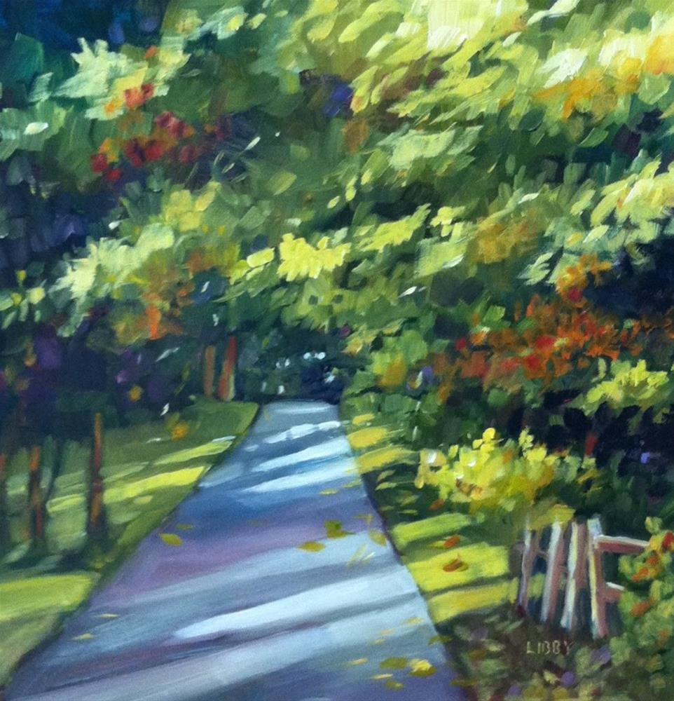 """Country Lane"" original fine art by Libby Anderson"