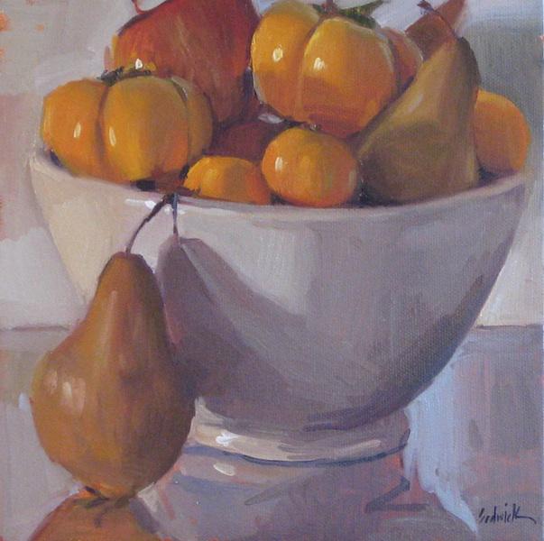 """Winter Fruit Bowl"" original fine art by Sarah Sedwick"
