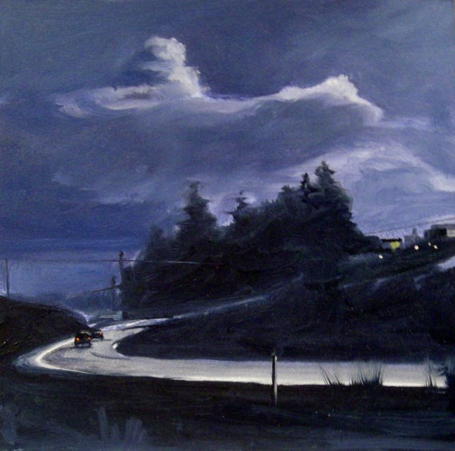 """Dark Zone  oil landscape painting, and Arts in the Woods"" original fine art by Robin Weiss"
