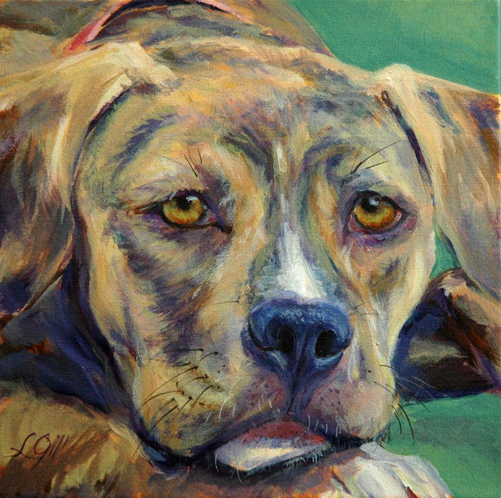 """Lulu"" original fine art by Lyn Gill"