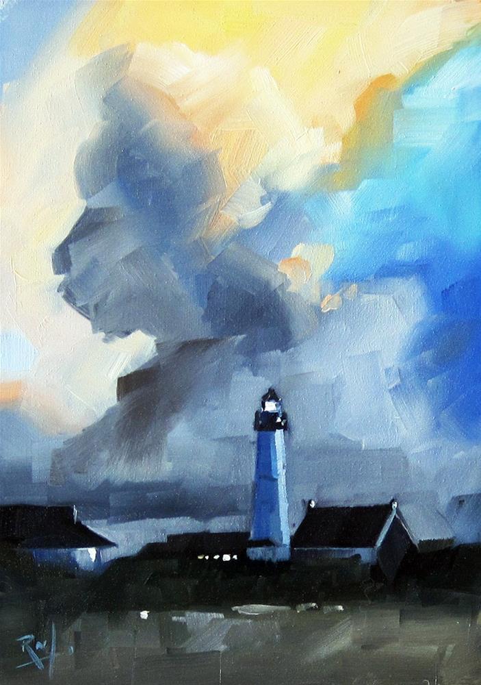 """No 801 Lighthouse"" original fine art by Robin J Mitchell"