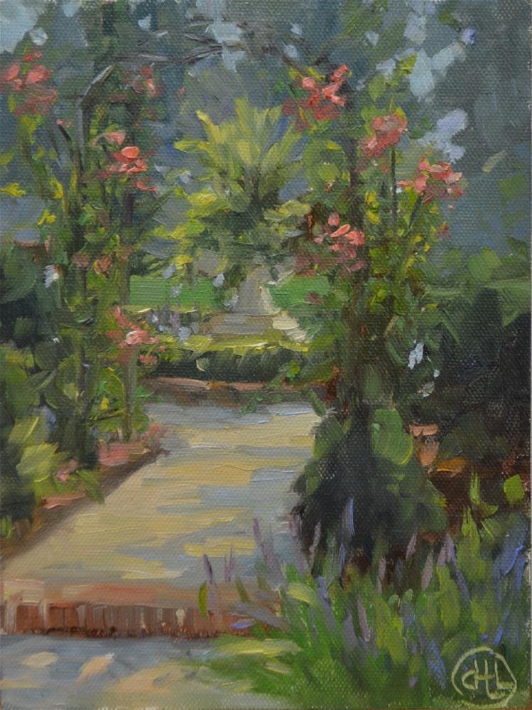 """""""morning sun in the garden"""" original fine art by Dottie  T  Leatherwood"""