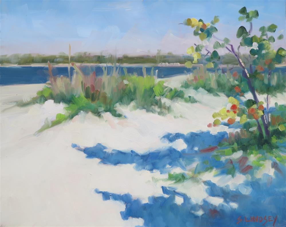 """""""Beach Walk"""" original fine art by Susan Lindsey"""