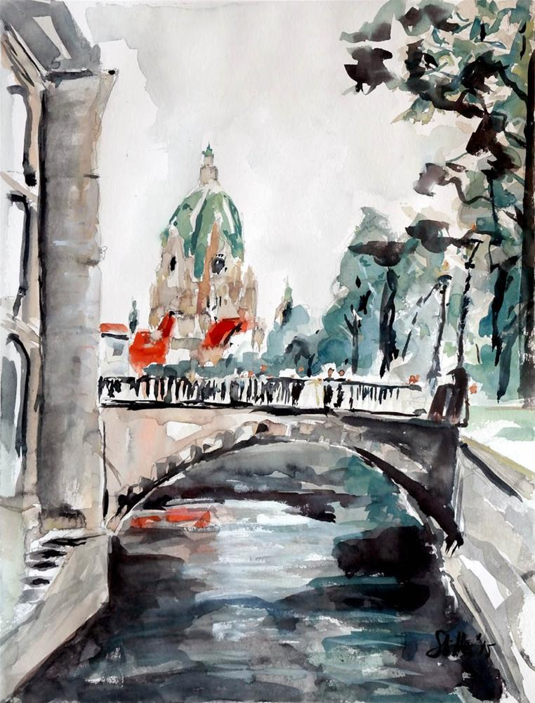 """1460 Little Venice"" original fine art by Dietmar Stiller"