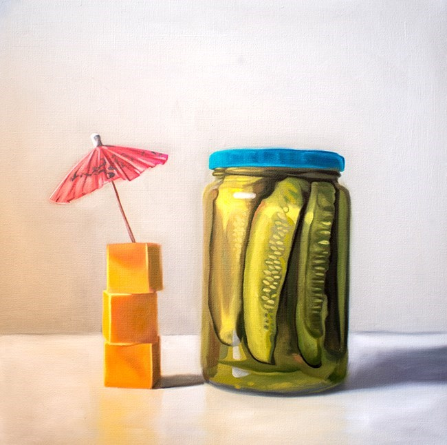 """Pickles and Cheese"" original fine art by Lauren Pretorius"