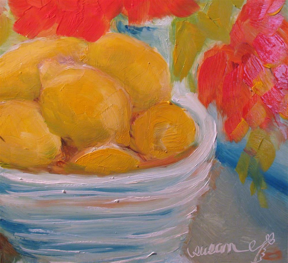 """Bowl of Lemons"" original fine art by Susan Elizabeth Jones"