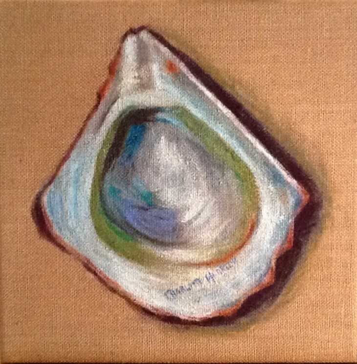 """Colorful Oyster"" original fine art by Charlotte Bankhead Hedrick"