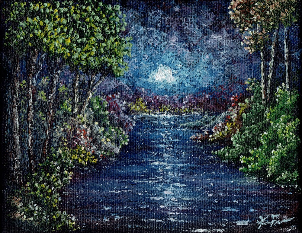"""Burlap Creek"" original fine art by Ken Fraser"