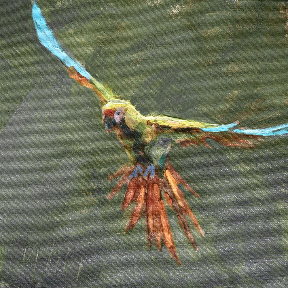 """The Flying Spirit Challenge"" original fine art by Yuehua He"