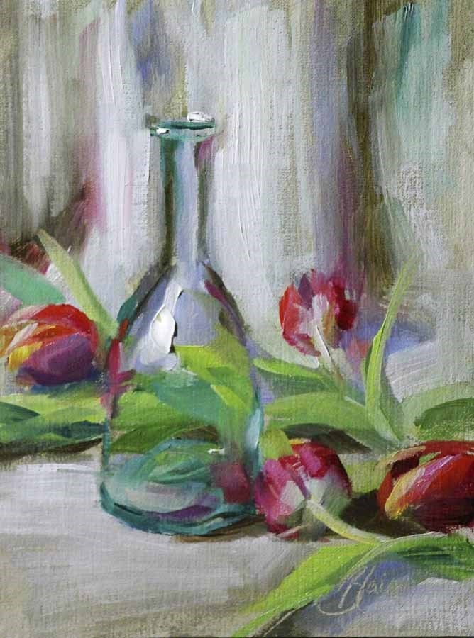 """Tulip Fiesta"" original fine art by Pamela Blaies"