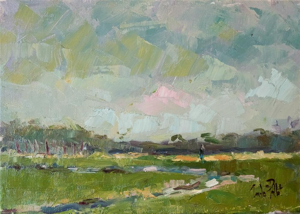 """Fields at Arundel"" original fine art by Andre Pallat"