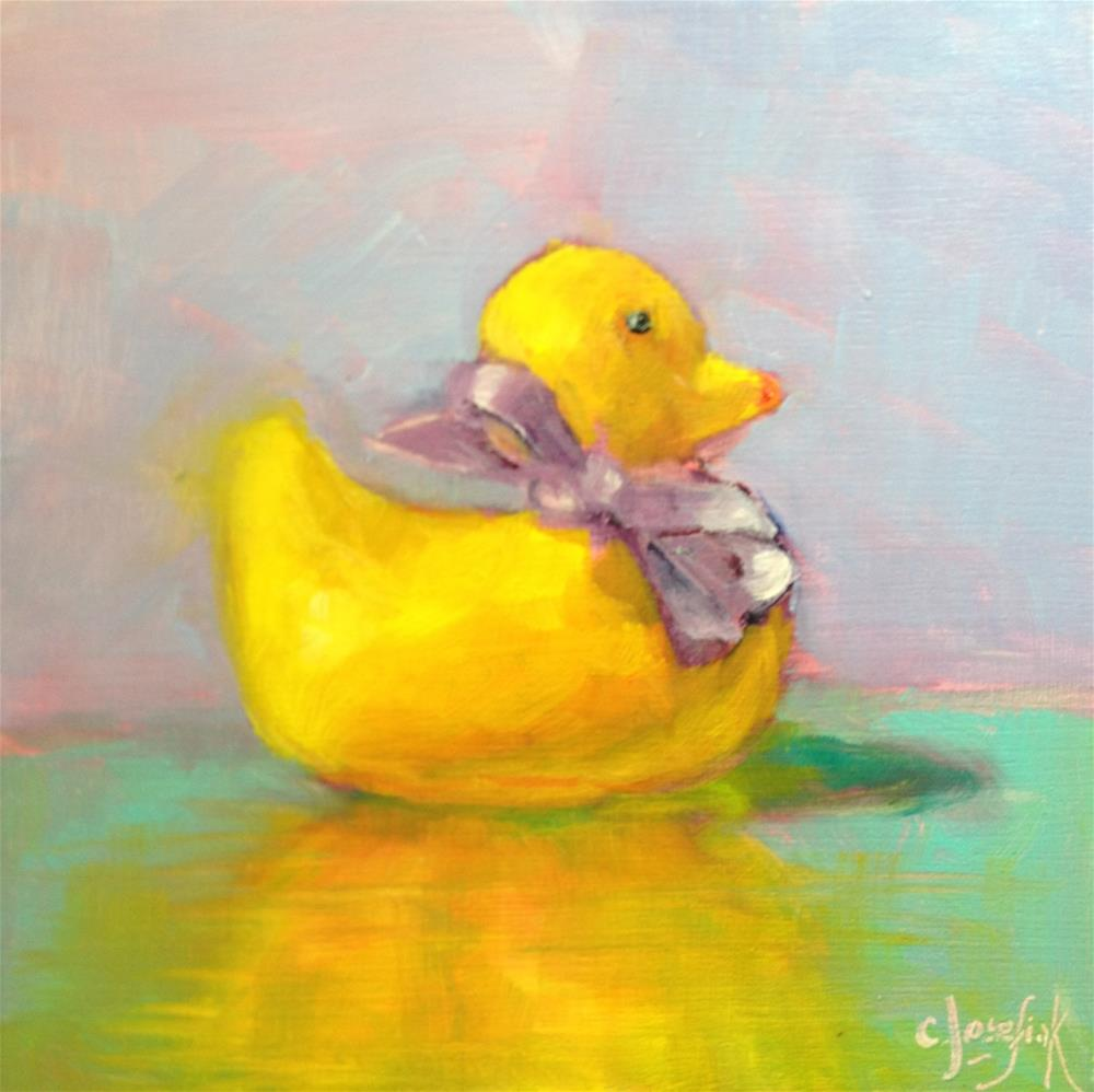 """Rubber Duckie"" original fine art by Carol Josefiak"