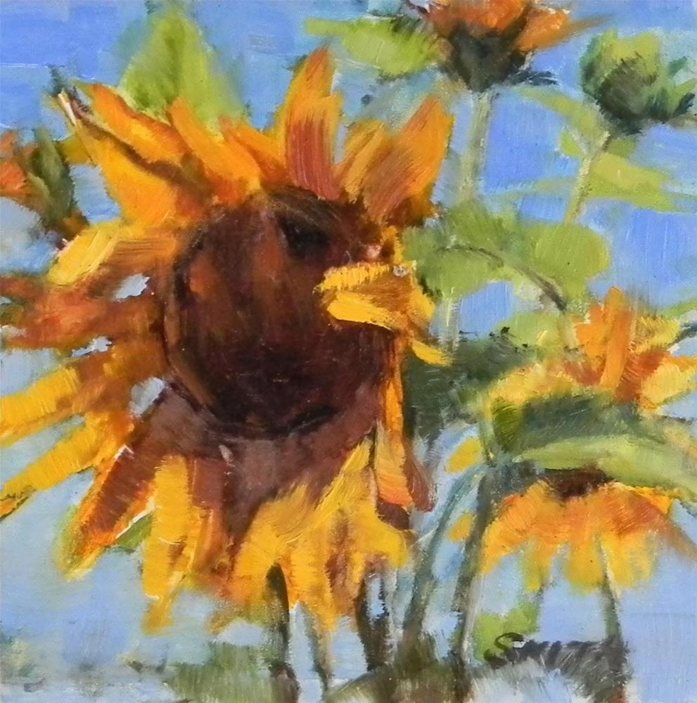 """Reaching for the Sun"" original fine art by Barbie Smith"