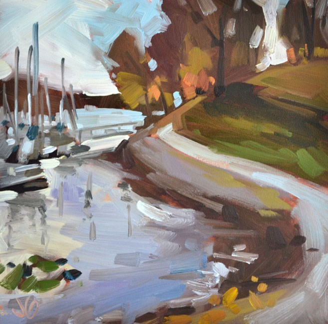 """Along the Shore"" original fine art by Jessica Green"