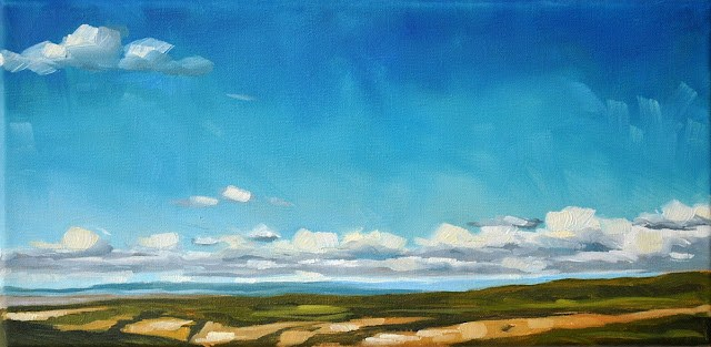 """Montana Sky - 6x12"" original fine art by Sharon Schock"